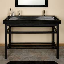 Black Bathroom Vanity With Sink by 48