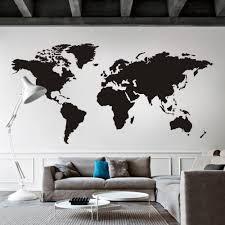 World Map Wall Decor World Map Wall Decal The Whole World Atlas Vinyl Wall Art Sticker