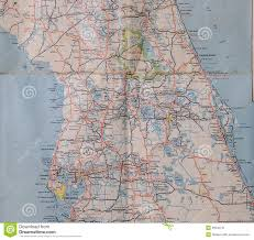 Brooksville Florida Map by Central Florida 1950 U0027s Stock Image Image 36640741