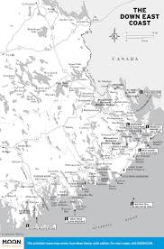 Printable Map Of Canada by Printable Travel Maps Of Maine Moon Travel Guides