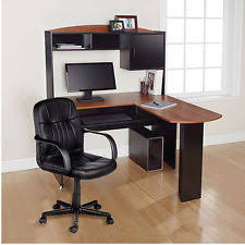 l shaped desk with hutch right return l shaped desk ebay