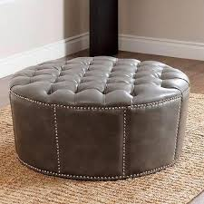 tufted storage ottoman bench with nailhead ivory target