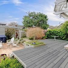newtechwood 4 32 sq ft deck a floor outdoor flooring kit