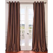 copper brown 96 x 50 inch grommet blackout faux silk taffeta