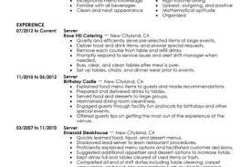 Server Resume Samples by Outgoing Resume Examples Reentrycorps