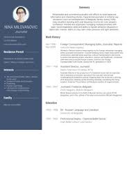 Ballet Resume Sample by Correspondent Resume Samples Visualcv Resume Samples Database