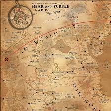World Map Artwork by The Dark Tower Mid World Map