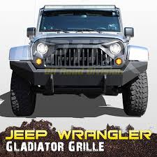 jeep gladiator amazon com gladiator grille angry bird eyes optix 120w led