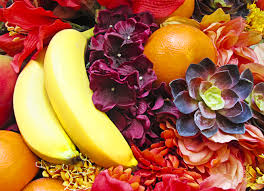 fruits flowers cutting boards serving tray fruit n flowers