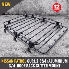 nissan patrol gu 1 2 3 u00264 aluminium 3 4 roof rack gutter mount