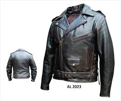 ladies motorcycle leathers amazon com mens basic premium buffalo retro brown leather jacket