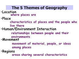 5 themes of geography lesson canada and the 5 themes of geography a study guide ppt video