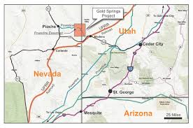 Arizona Strip Map by Gold Springs Trimetals Mining Inc