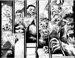 loup garou comics coloring pages printable