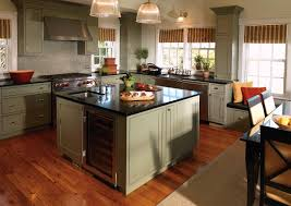 kitchen kraft cabinets hickory wood dark roast raised door kitchen craft cabinets reviews