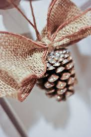 glittered pine cone ornaments may arts wholesale ribbon company