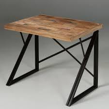 bureau industriel bois et metal bureau en bois teck et métal decoclico bureaux