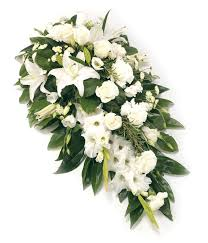funeral spray white single ended spray delivered with care designed with
