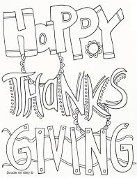 thanksgiving coloring pages doodle alley throughout happy page