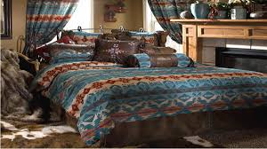 Rustic Bedding Sets Clearance Blue And Brown Aztec King Bedding Set Clearance And Curtain With
