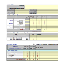 Excel Construction Bid Template Cost Template 8 Free Word Excel Pdf Format
