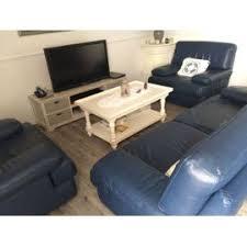 ensemble canape cuir ensemble canapé fauteuil roche bobois cuir bleu marine