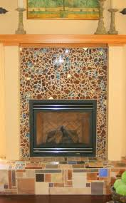 glass tile fireplace mantels photos mother pearl surround 122 how