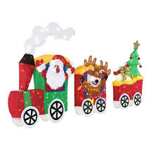 Lighted Santa Sleigh Reindeer Set by Home Accents Holiday 75 Inch Led Lighted Tinsel Santa Train Set