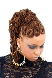natural locs hairstyles for black women love the pin curls around the crown locspiration pinterest