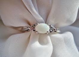 small vintage sterling silver opal engagement ring best