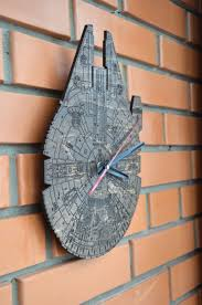 millennium falcon wooden wall clock helps you keep track of time