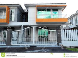 two storey building double storey house building stock image image of architecture