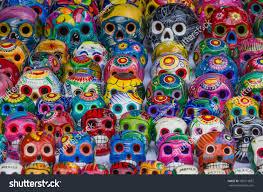colorful skulls souvenirs mexico stock photo 183713837 shutterstock