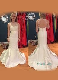 halter neck wedding dresses simple sheath cheap wedding gown