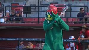softball player halloween costume san diego state baseball team plays game in halloween costumes
