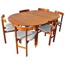 Teak Table And Chairs Impeccable Inger Klingenberg Uber Rare Solid Teak Dining Set Of