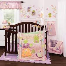 Hibiscus Crib Bedding Pond Animals Turtles And Frogs With Floral Baby 4 Crib
