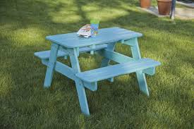 Recycled Plastic Outdoor Furniture Children U0027s Classic Picnic Table Recycled Plastic