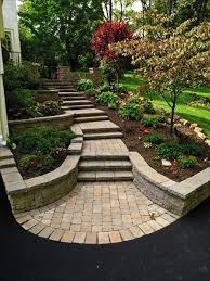 Useful And Attractive Ideas Paver Useful And Great Landscape Design For Sloped Side Yard Good For