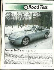 porsche 944 road test road test porsche 944 turbo stuttgard slingshot motor sport