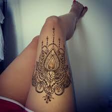 thigh henna design for sheideas