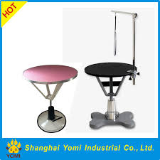 large dog grooming table round height adjustable dog grooming table buy height adjustable