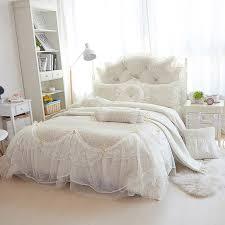 luxury fleece lace winter bedding sets full queen king double size