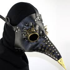 leather plague doctor mask unique design made leather plague doctor mask bird beak