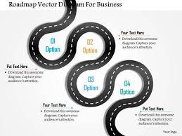business diagram roadmap vector diagram for business presentation