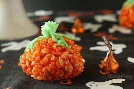 rice crispy treat pumpkins stuffed rice crispy treat pumpkins
