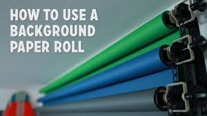 savage background paper how to use a background paper roll