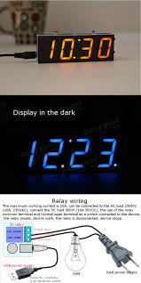 geekcreit diy digital clock kit light control industrial control