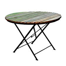 folding table with recycled teak table classic outdoor kit
