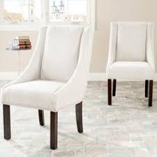 charlie modern wingback swoop arm dining chair wood target